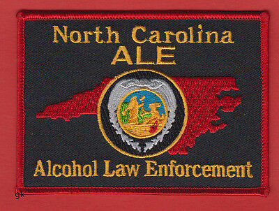 ALCOHOL LAW ENFORCEMENT   NORTH CAROLINA ALE   POLICE SHOULDER PATCH