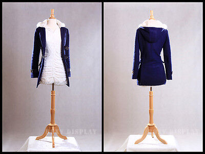 High Quality Size 6-8 Female Mannequin Dress Form Fwp-wbs-01nx Maple Base