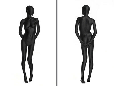 Ladies Matte Black Egg Head Female Mannequin