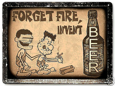 CAVEMAN BEER funny METAL SIGN great gift mancave vintage style wall decor 254 (Caveman Decorations)