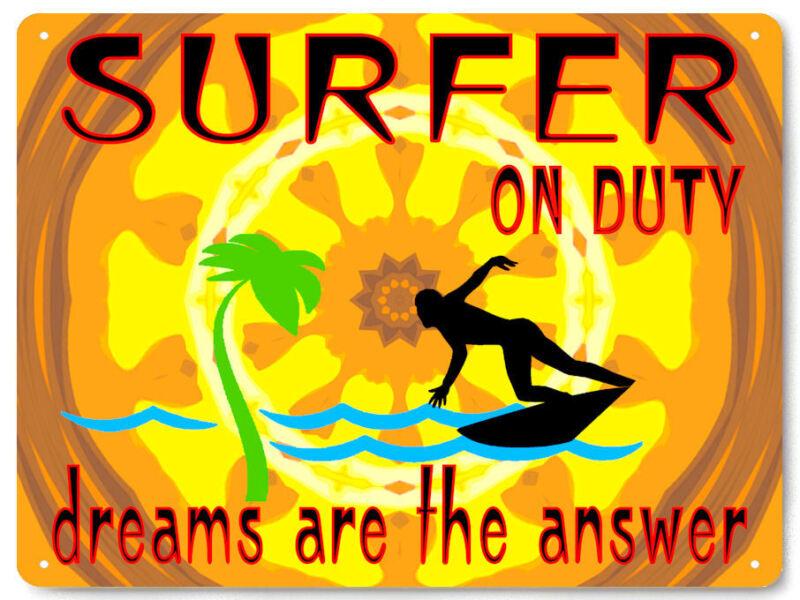 Surfer beach sport METAL SIGN perfect GIFT for mancave wall decor garage art 291