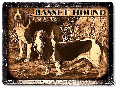 Basset Hound dog metal sign pet kids great gift vintage style wall decor art 319