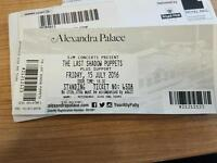 2 tickets for last shadow puppets