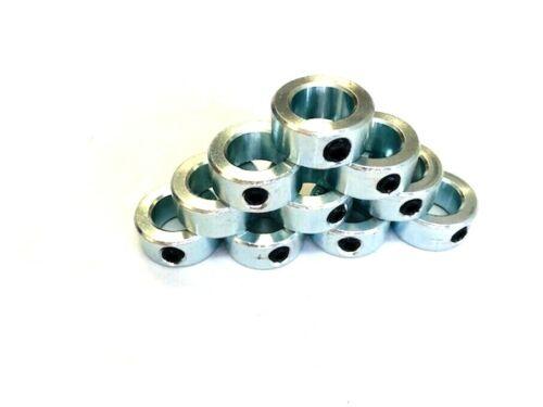 10 Pcs 5/8 Inch Stop Collars Zinc Plated 5/8 Shaft Collars Axle Collars 1U44