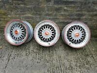 BBS RS Style alloy wheels x 3
