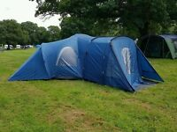 9 person Coleman Michigan tent in blue
