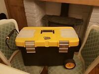 JCB yellow Tool box