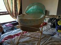 Moses basket and bouncer