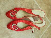 Red spotty shoes