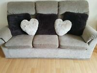 Settee and Recliner Chair