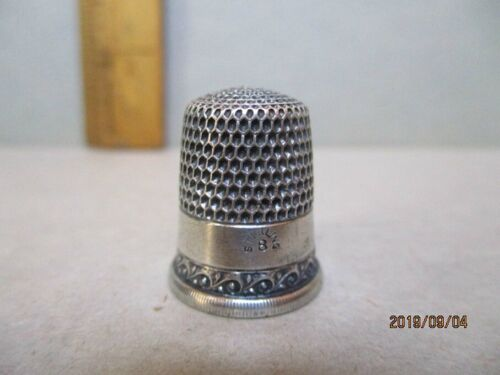 Vintage STERLING THIMBLE by SIMONS BROS, PA, C.1900,Size 8