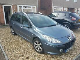 Peugeot 307sw 1.6 gas converted 7 seater spares repair