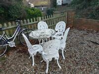 Antique french Garden chair and table set