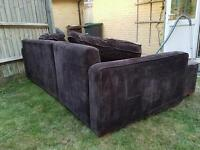 4 seater double l shape sofa bed