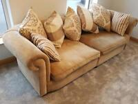 Large 4 seater sofa and arm chair- may sell separately.