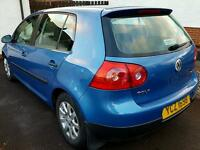 Blue Volkswagon Golf FSI 1.6 Petrol