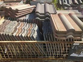 Reclaimed Marley double roman roof tiles - a variety