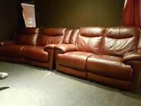 Leather 2x2 recliners