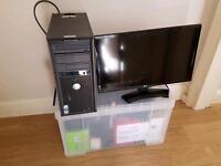 PC, HP WiFi Printer, HD LED monitor, USB hub, lots of extras