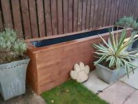Timber made pond frame/planter