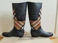 Burberry wellington boots size 5 (38) 100% authentic