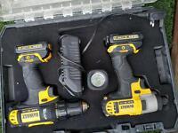 Dewalt combi, impact, drill, led light
