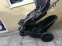 Graco double push chair
