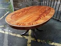 Restored dining table french polished