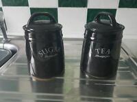 Sugar and tea pot