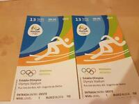 2 Olympic Athletic tickets, £130 each, 13th august 9:30am