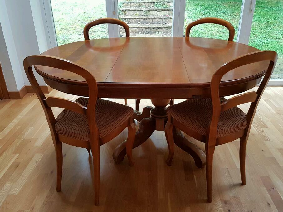 Grange Solid Cherry Wood Dining Table And 6 Chairs