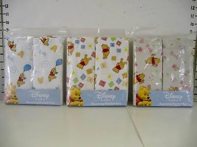 Pooh Receiving Blanket (3 Packs Disney Pooh Baby Receiving  Blanket)