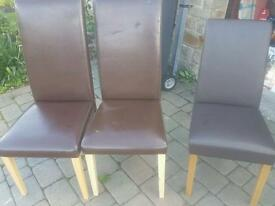 FREE Faux Leather Dining chairs