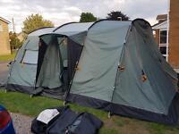 Vango Sungari 600 tent with Vango porch extension (6 person)
