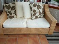 Wicker 2 seater conservatory couch