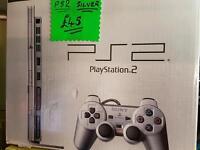 Silver Playstation 2 boxed