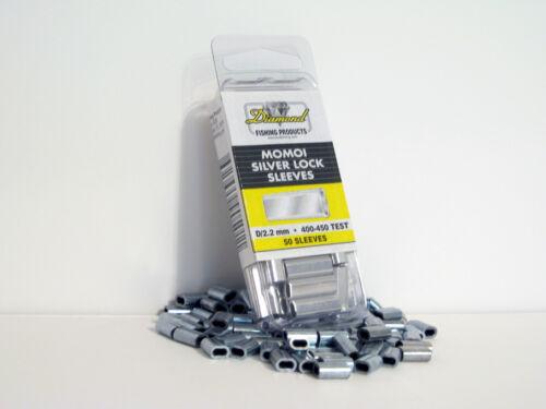 Momoi Silver Lock Sleeves -Fishing Crimps-Pick Size
