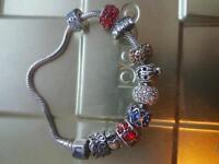 Pandora and chamilla bracelett