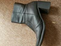 Real leather half boot