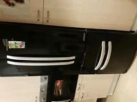 Elegant black fridge bargain