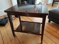 Wooden TV table / antique card table