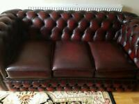 Beautiful Red-Ox Blood Chesterfield Suite