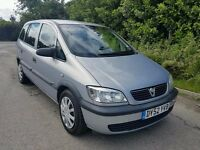2003 VAUXHALL ZAFIRA 1.8 CLUB SILVER 7 SEATER TAXED AND TESTED READY TO DRIVE AWAY BARGAIN!!!