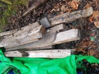 Reclaimed oak timber