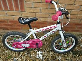"Hello kitty girls bike. 16"" wheels"