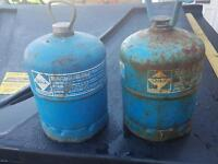 Two burner gas bottles