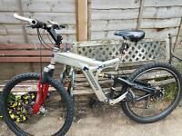 Man's mountain bike full suspension