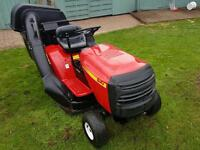 Rally ride sit on lawn mower