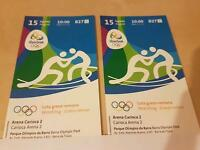 2 x Olympic greco roman wrestling tickets - 15th august - £20 each