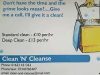 Clean 'N' Cleanse MAIDSTONE (Domestic cleaning services)
